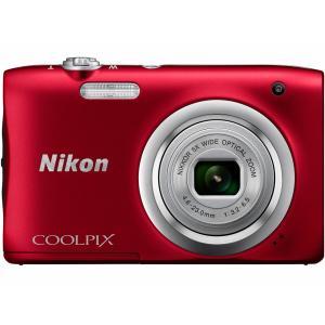 ニコン コンパクトデジタルカメラ COOLPIX A100 [レッド]★|amuseland