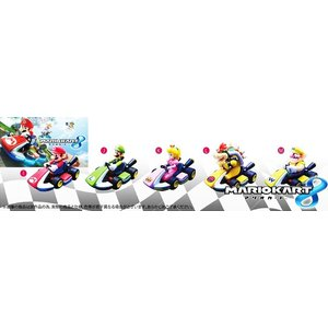 マリオカート8 プルバックフィギュア 全5種セット...