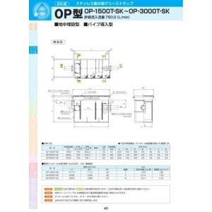 OP型 OP3000T-SK 耐荷重蓋仕様セット(マンホール枠:ステンレス/蓋:ステンレス) T-20
