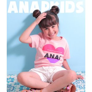 **Tシャツ**  配色のカラフルなハートTシャツ入荷☆  シンプルプリントだからコーデに合わせやす...