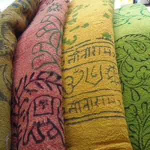 マルチクロス大判 インド綿 シングルベッドサイズ カデイ織 アジアン インドの写真