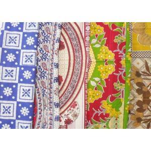 マルチクロス大判 インド綿 シングルベッドカバーサイズ  バリハワイ風の写真