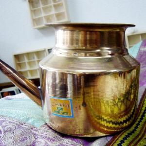 生産国 インド 素材 銅 サイズ 直径10.5センチ 高さ10センチ前後 重量 185グラム前後 職...