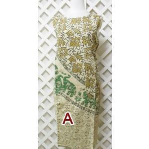 生産国 インド 材質 綿  フリーサイズ。 着丈は160センチの女性の場合、膝がすっぽりかくれる位。...