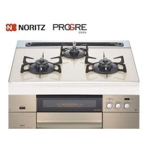 【送料無料】NORITZ(ノーリツ)PROGRE(プログレ) ビルトインコンロ(左右強化力)【NS01MBEC】13A/12A 都市ガス 60cm ガラストップ キャセロール付属|anchor