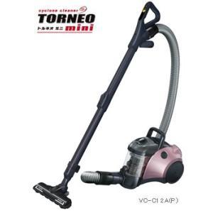 東芝サイクロンクリーナー TORNEO mini トルネオ ミニ【VC-C12A】 デュアルトルネードシステム ターボヘッド(シルキーピンク)|anchor