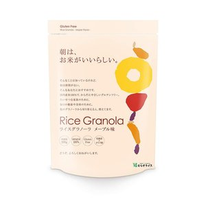 【商品情報】  日本の大地で育った国内産100%のお米(玄米)で作ったライスパフとオーツ麦を丁寧に焼...