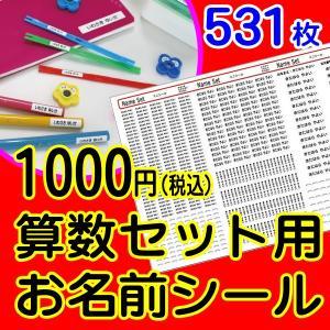 531ピース入り算数セット用お名前シール  B504TZ|and-me-shop