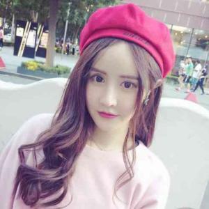 f03dc2d214e ベレー帽 レディース 帽子 秋冬 トレンド かわいい おしゃれ オルチャン 韓国ファッション シンプル 赤 レッド