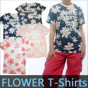 フィットネスウェア レディース ダンスウェア トップス ウェア 花柄Tシャツ 柔らか滑らかな手触り 立体プリント加工Tシャツ|andastnd