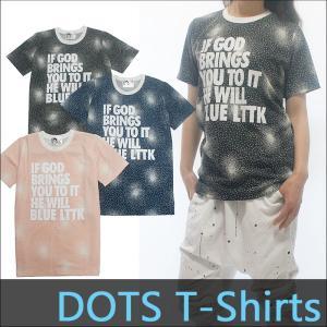 フィットネスウェア レディース ダンスウェア トップス ウェア ドット柄Tシャツ 柔らか滑らかな手触り 立体プリント加工Tシャツ|andastnd