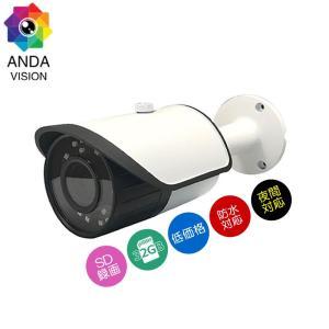 防犯カメラ sdカード録画 屋外 家庭用 防水 バレット AV-810SD