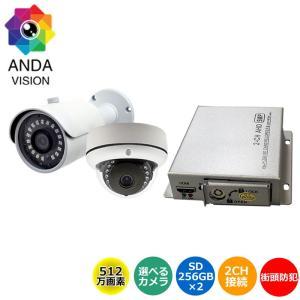 防犯カメラ 500万画素 屋外 2台セット  バレット SD...