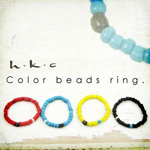 ビーズ リング 指輪 カラー アクセサリー レディース|andit
