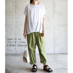 半袖カットソー/Tシャツ/トップス/ボーダー柄/無地/裾タック/レディース|andit|11