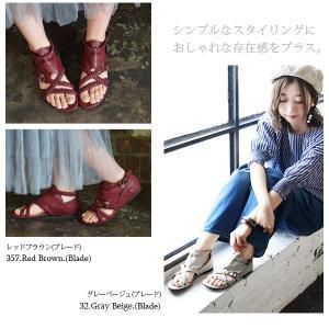 サンダル レディース ぺたんこ靴 大きいサイズ グラディエーターサンダル レディース|andit|17