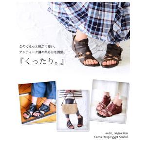 サンダル レディース ぺたんこ靴 大きいサイズ グラディエーターサンダル レディース|andit|08