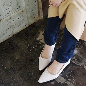走れるパンプス ぺたんこ靴 ポインテッドトゥ とんがりパンプス レディース|andit