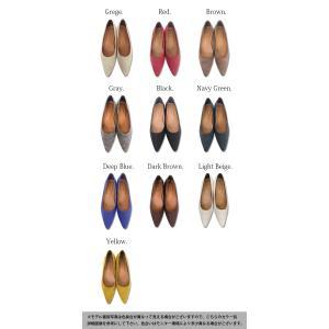 走れるパンプス ぺたんこ靴 ポインテッドトゥ とんがりパンプス レディース|andit|02