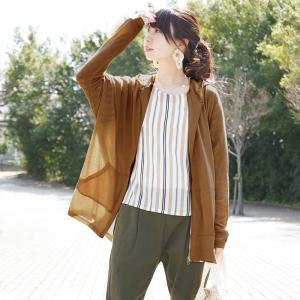 パーカー UVカット 紫外線対策 ドルマンスリーブ ゆったり 楽ちん 羽織り レディース