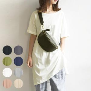 ワンピース レディースファッション チュニック Tシャツ 半袖カットソー シンプル|andit
