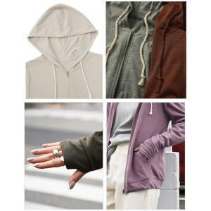 パーカー UVカット 紫外線対策 トップス 羽織り レディース 長袖|andit|12