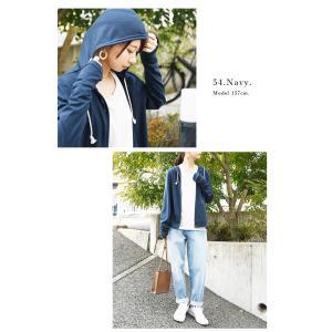 パーカー UVカット 紫外線対策 トップス 羽織り レディース 長袖|andit|18