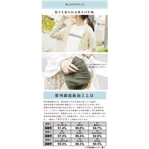 パーカー UVカット 紫外線対策 トップス 羽織り レディース 長袖|andit|07