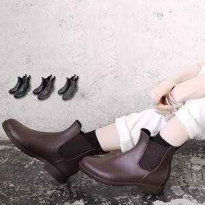 レインブーツ/ショートブーツ/サイドゴア/靴/レディースシュ...