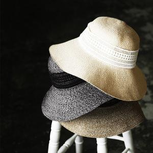 麦わら帽子 ハット 紫外線対策 日焼け対策 リボン レディース andit