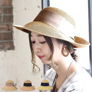 麦わら帽子 カプリーヌハット 紫外線対策 折りたたみ UVカット レディース andit