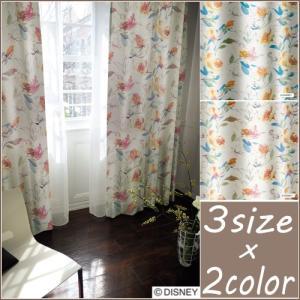 ◆ディズニー 遮光カーテン 100×135cm アリス/ローズガーデン 1枚入 日本製 形状記憶 洗...