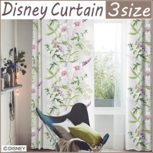 ◆ディズニー 遮光カーテン 100×135cm ミッキー/ワイルドフラワー 1枚入 日本製 形状記憶...