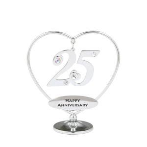 銀婚式のプレゼント、25歳の誕生日プレゼント、 25周年のギフトとして。 スワロフスキーがキラキラ輝...