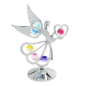 ギフト 誕生日 プレゼント 女性 お祝い 記念日 スワロフスキー クリスタル 置き物 天使とハート 置物2 andromeda
