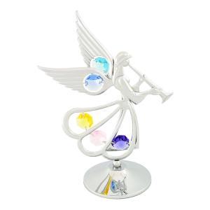 天使が幸せの到来を告げる笛を高らかに吹いています ◆愛を運ぶエンジェル-天使シリーズです! クリスタ...