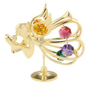 オブジェ 雑貨 スワロフスキー クリスタル 誕生日 プレゼント 女性 お祝い ギフト 記念日 置き物 愛を運ぶ天使 置物1 andromeda