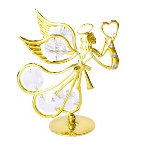 オブジェ 雑貨 インテリア スワロフスキー クリスタル 誕生日 プレゼント 女性 お祝い ギフト 記念日 愛を運ぶ天使 置物2|andromeda