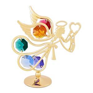 お祝い ギフト 記念日 雑貨 誕生日 プレゼント 女性 スワロフスキー クリスタル 置き物 愛を運ぶ天使 置物3 andromeda