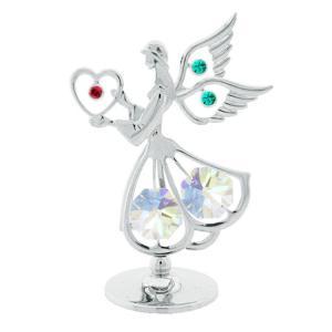 スワロフスキー SWAROVSKI クリスタル 誕生日 プレゼント 女性 お祝い ギフト 記念日 置き物 天使とハート 置物|andromeda