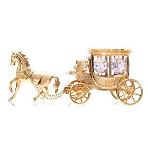 気品漂う王室の馬車の置物 御自身の宝物、誕生日プレゼントとして。 華やかに彩るスワロフスキー クリス...