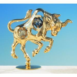 高級 ギフト 雑貨 スワロフスキー クリスタル 誕生日 プレゼント 女性 男性 記念日 丑年 牡牛座 ゴールド ブルの置物2|andromeda