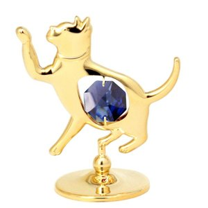 縁起物 雑貨 ギフト インテリア スワロフスキー クリスタル 誕生日 プレゼント 男性 女性 記念日 招き猫の置物1|andromeda