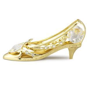 ゴールド タイプのシンデレラの靴の置物は、 御自身の宝物、誕生日プレゼントとして♪ スワロフスキー ...