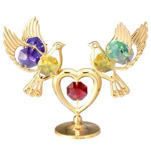 二匹の鳩がハートの上で愛を育んでいる 様子の置物です♪ 御自身の宝物、誕生日プレゼントとして。 ◆家...