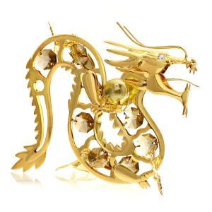 黄龍(金龍)の置物は御自身の宝物、 誕生日プレゼントとして。 ゴールデン チーク(金色)のスワロフス...