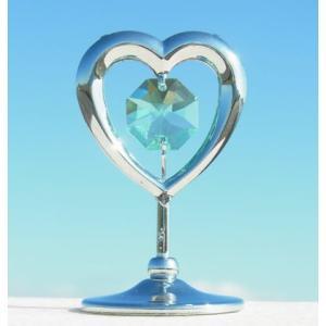 ハートの置物6 スワロフスキー クリスタル 誕生日 プレゼント 女性 お祝い ギフト 記念日 置き物|andromeda