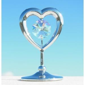 ハートの置物7 スワロフスキー クリスタル 誕生日 プレゼント 女性 お祝い ギフト 記念日 置き物|andromeda