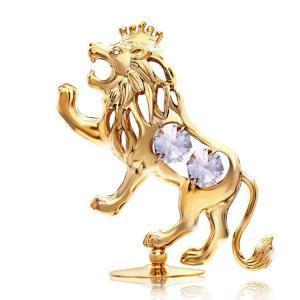 誕生日 プレゼント 女性 男性 ギフト スワロフスキー クリスタル 記念日 獅子座 置き物 王様 ライオン 置物1|andromeda