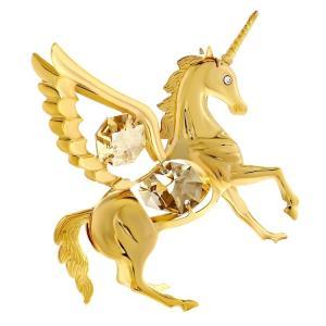 お祝い ギフト 誕生日 プレゼント クリスタル スワロフスキー 女性 男性 馬 記念日 午年 置き物 ゴールド ペガサス 置物|andromeda
